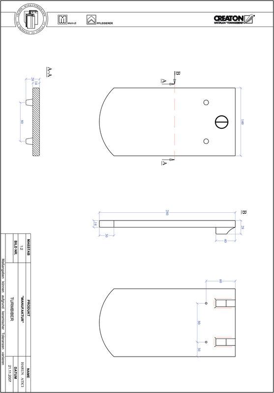 Termék CAD file MANUFAKTUR szegmensvágású TURMBIBER