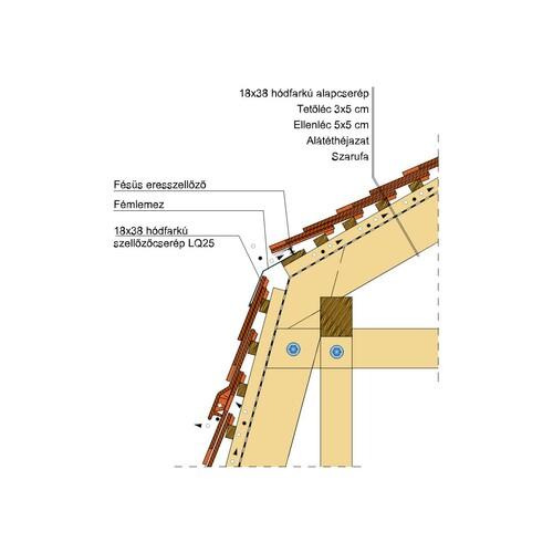 Termék műszaki rajz - Klassik manzard 1