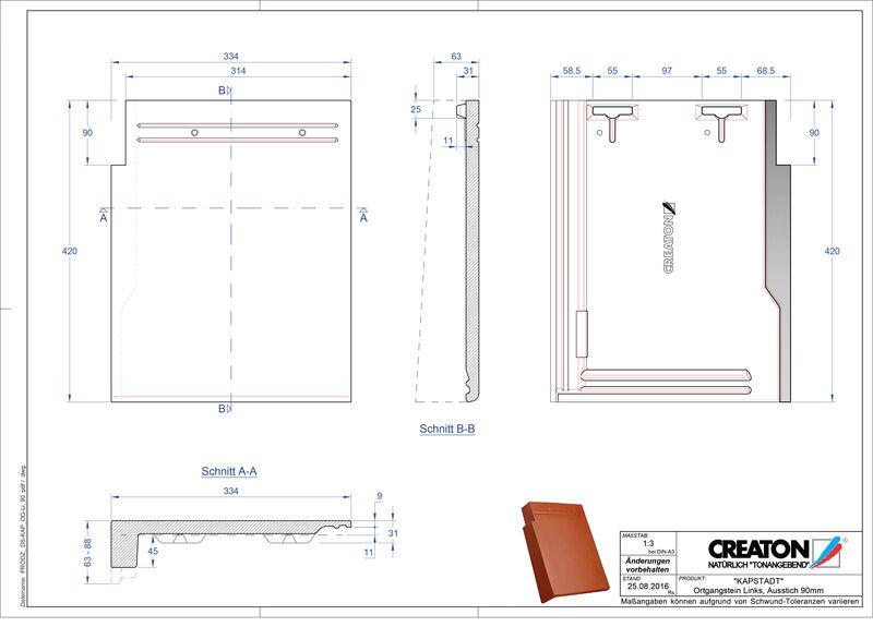 Termék CAD file KAPSTADT szegély bal OGL-90