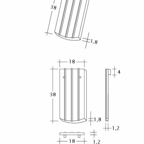 Termék műszakirajz PROFIL Kera-Saechs-18cm-1-1