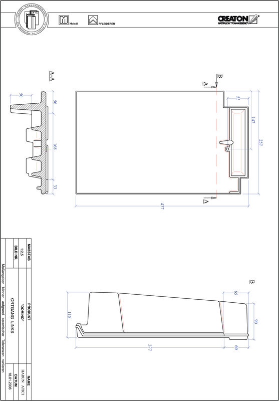 Termék CAD file DOMINO szegély bal OGL