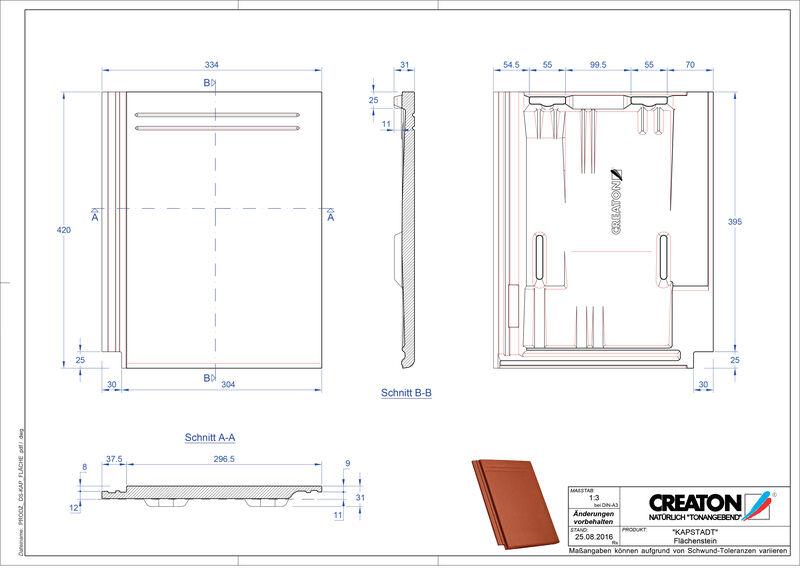 Termék CAD file KAPSTADT alapcserép Faechenstein