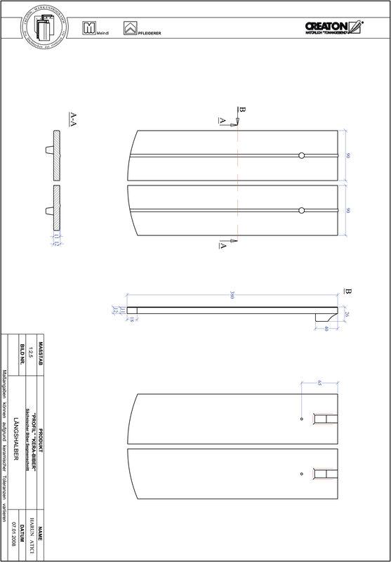 Termék CAD file PROFIL szegmensvágású KERA-SAECHS-18-CM-LH