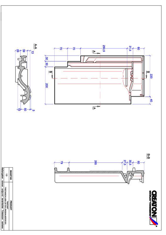 Termék CAD file SINFONIE taréjszellőző-félcserép FALLH