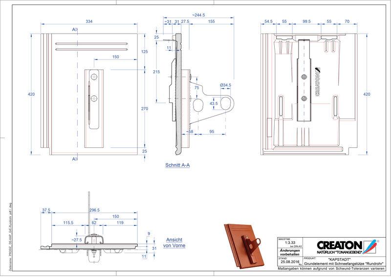 Termék CAD file KAPSTADT alapelem Rundrohr