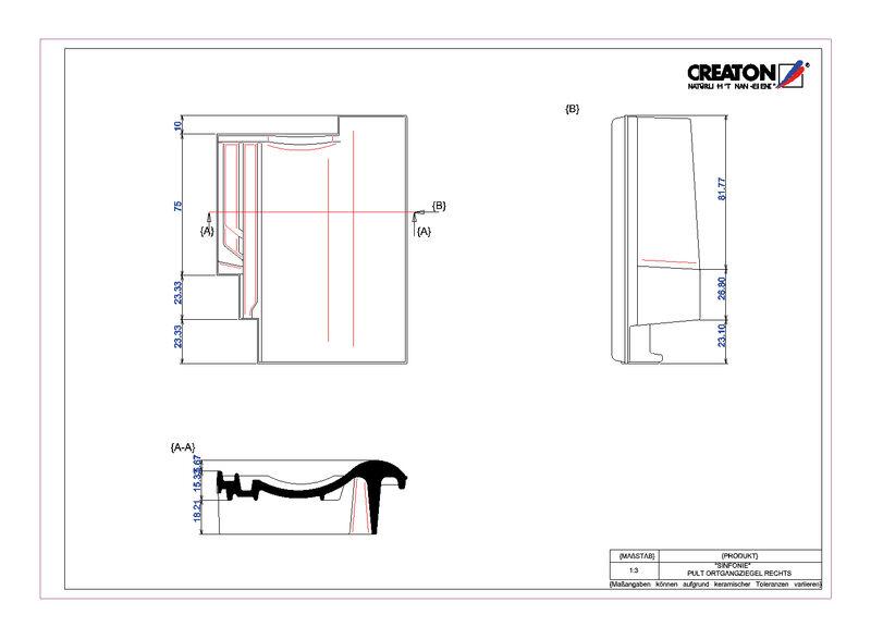 Termék CAD file SINFONIE  félnyeregtető szegélycserép, jobb PULTOGR