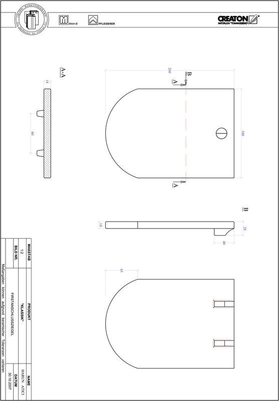 Termék CAD file KAPSTADT kerekvágású RUND-FAZ