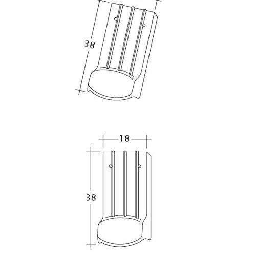 Termék műszakirajz PROFIL Kera-Saechs-18cm-LUEFTZ