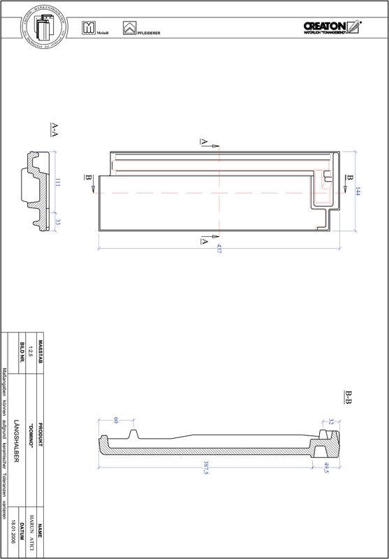 Termék CAD file DOMINO félcserép LH