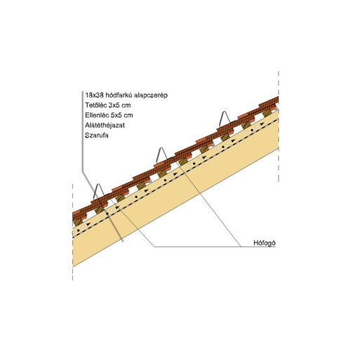 Termék műszaki rajz - Klassik hófogó 2