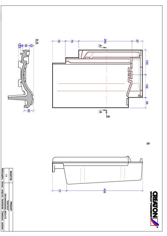 Termék CAD file SINFONIE szegély jobb OGR