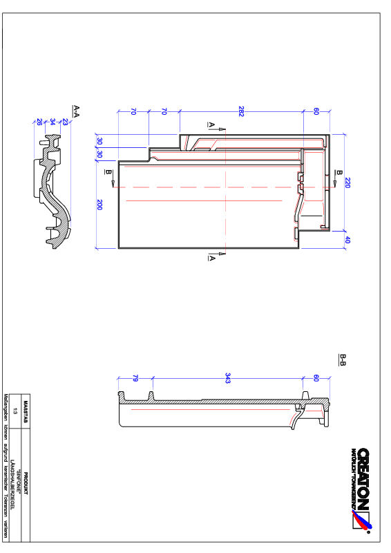 Termék CAD file SINFONIE félcserép LH