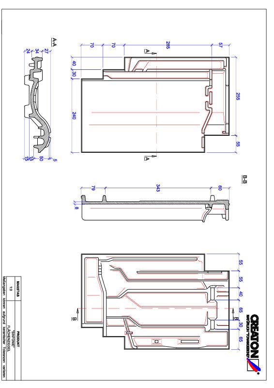 Termék CAD file SINFONIE alapcserép FLA