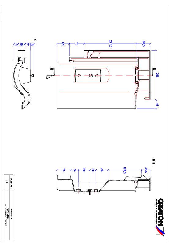 Termék CAD file SINFONIE alap, alumínium GRUNDALU
