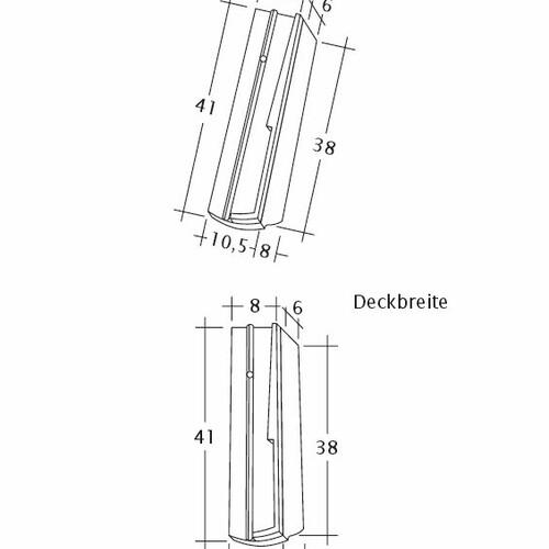 Termék műszakirajz PROFIL Kera-Saechs-18cm-SchiebeOG