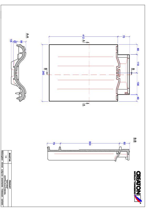 Termék CAD file SINFONIE kettőshullámú cserép DWZ