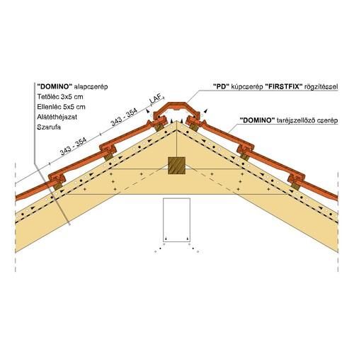 Termék műszaki rajz - Domino gerinc 2