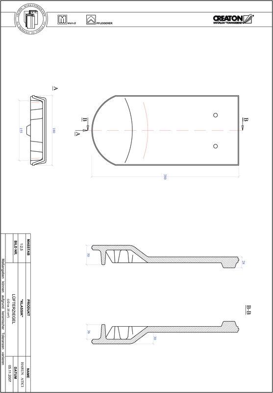 Termék CAD file KAPSTADT kerekvágású RUND-LUEFTZ