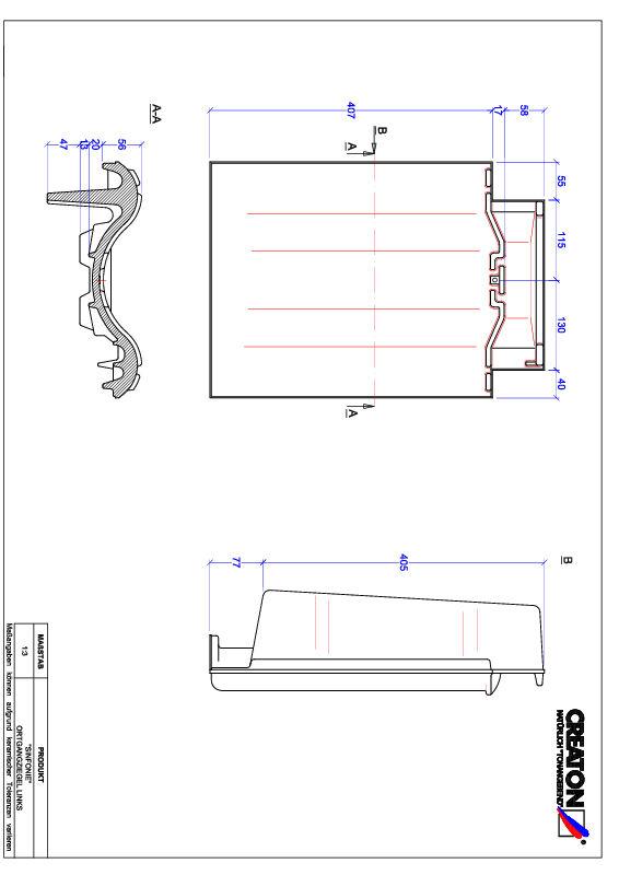 Termék CAD file SINFONIE szegély bal OGL