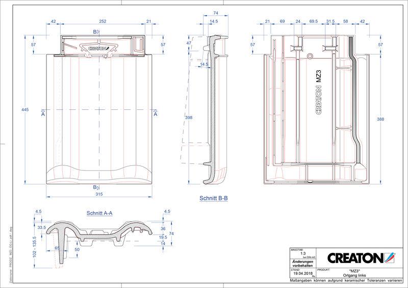 Termék CAD file MZ3 NEU szegély bal OGL