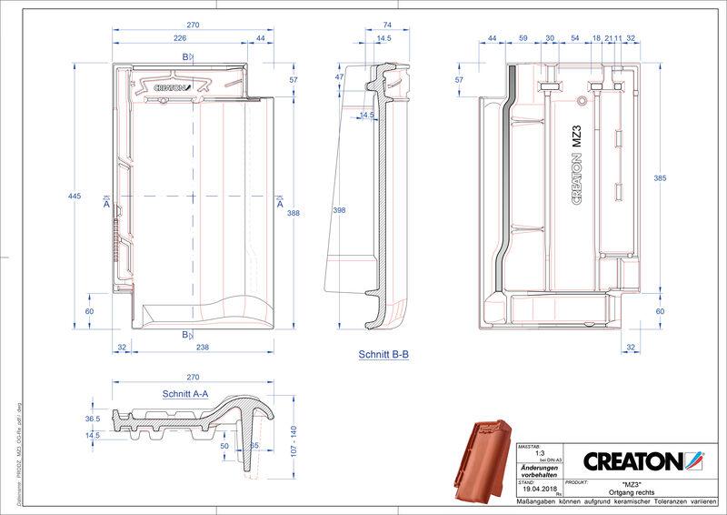Termék CAD file MZ3 NEU szegély jobb OGR