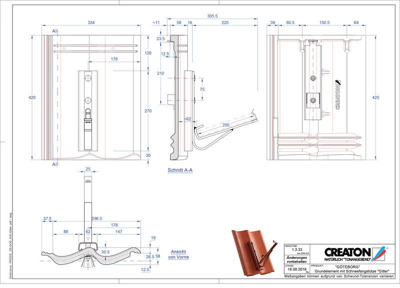 Termék CAD file GÖTEBORG alapelem Gitter