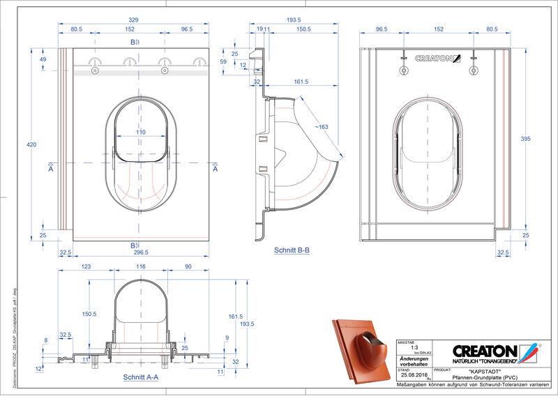Termék CAD file KAPSTADT kiegészítők Grundplatte-PVC