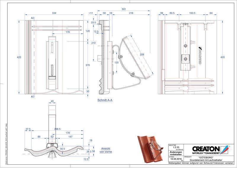Termék CAD file GÖTEBORG alapelem Laufrost
