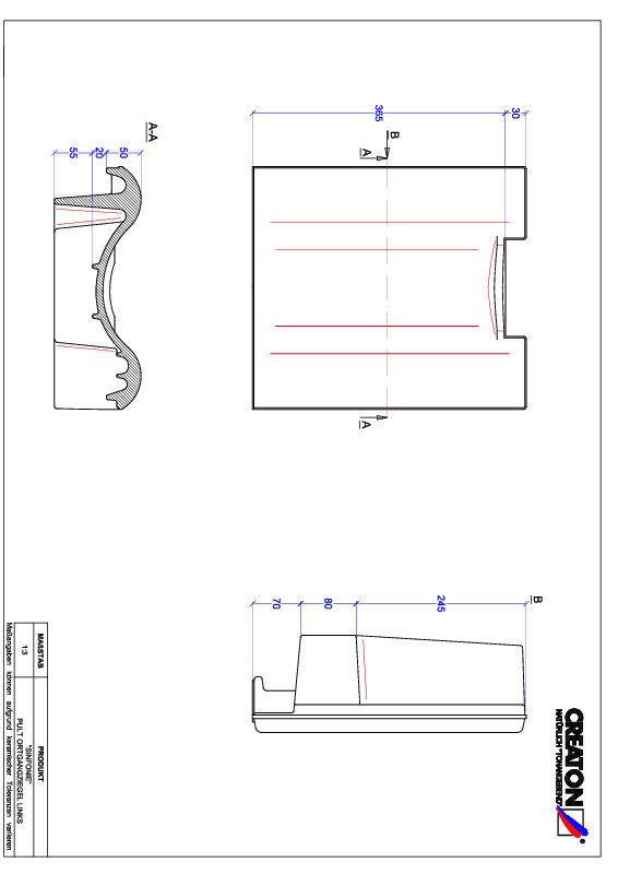 Termék CAD file SINFONIE félnyeregtető szegélycserép, bal PULTOGL