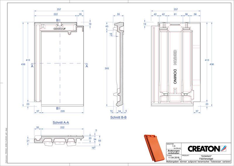 Termék CAD file DOMINO alapcserép FLA