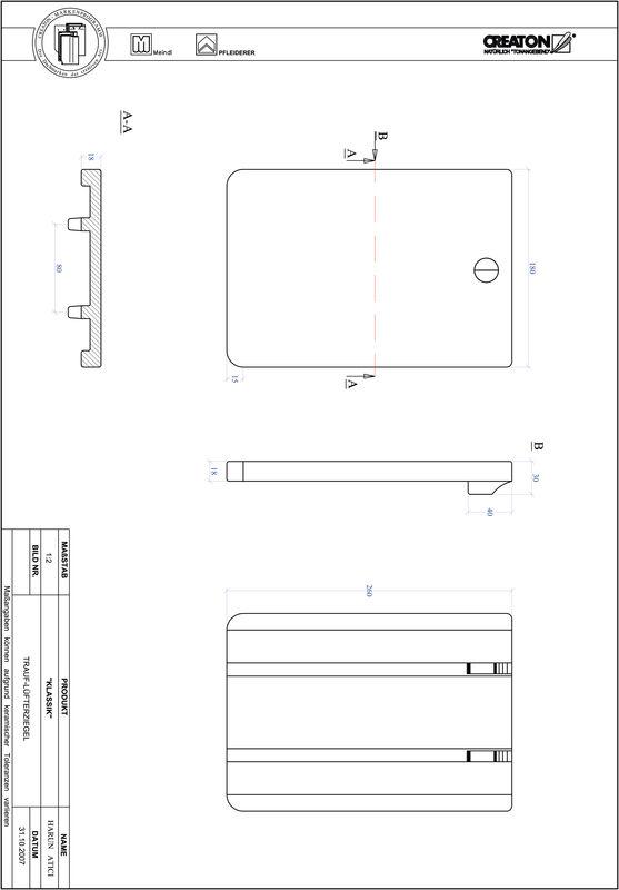 Termék CAD file KAPSTADT kerekvágású RUND-TRAUF-LUEFTZ