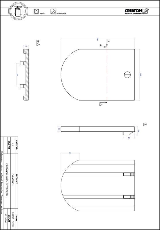 Termék CAD file KAPSTADT kerekvágású RUND-FALZ