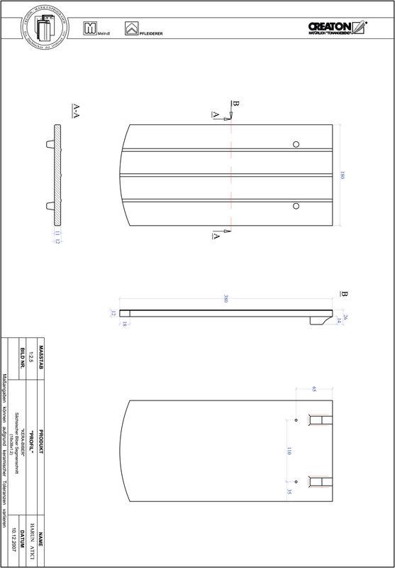 Termék CAD file PROFIL szegmensvágású KERA-SAECHS-18-CM-1-1