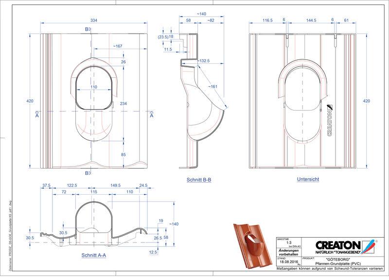 Termék CAD file GÖTEBORG kiegészítők Grundplatte-PVC