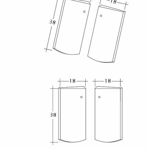 Termék műszakirajz PROFIL Kera-Saechs-18cm-Unterlaeufer
