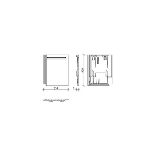 Termék műszaki rajz - Kapstadt alapcserép