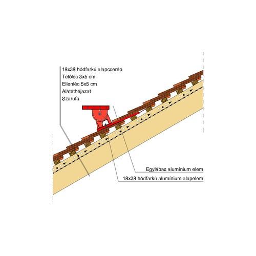 Termék műszaki rajz - Klassik járórács
