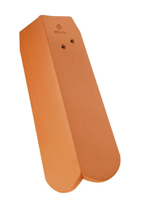 KLASSIK hódfarkú szegélycserép 1/2, jobb, koronafedéshez, alacsony oldallappal, kb. 9 cm