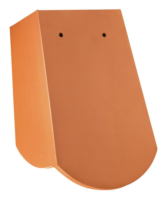 SZÁSZ hódfarkú szegmensvágású, 18 x 38 x 1.2 , 3 bordás eltolható szegélycserép, alacsony oldal szárnnyal, kb. 5 cm, jobb