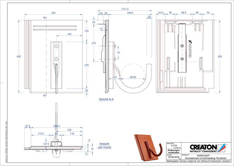 Termék CAD file KAPSTADT alapelem Rundholz