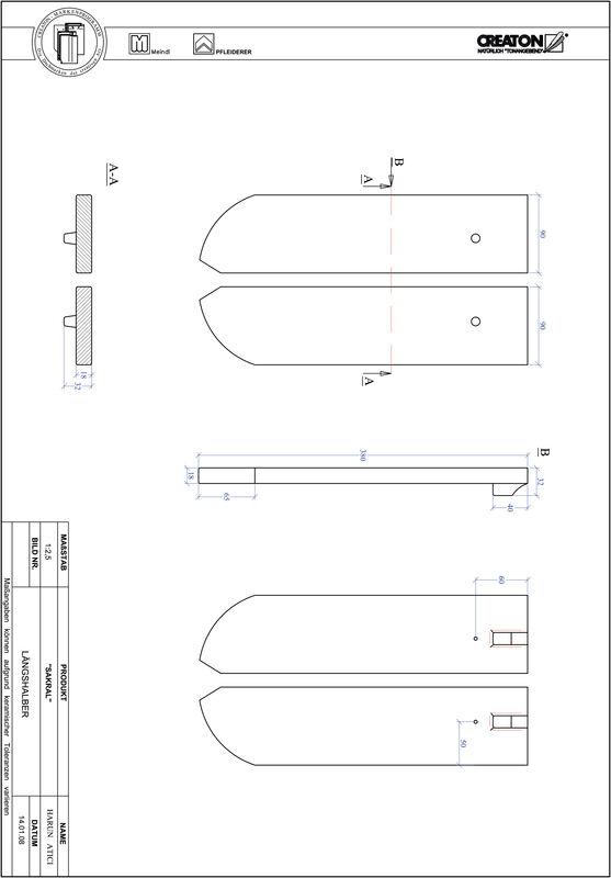 Termék CAD file ANTIK kerekvágású RUND-LH