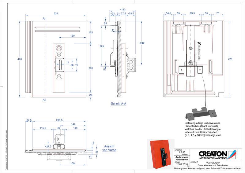 Termék CAD file KAPSTADT alapelem Solar