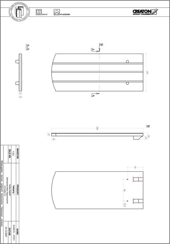 Termék CAD file PROFIL szegmensvágású KERA-SAECHS-15-CM-1-1