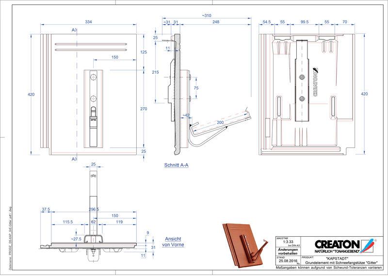 Termék CAD file KAPSTADT alapelem Gitter