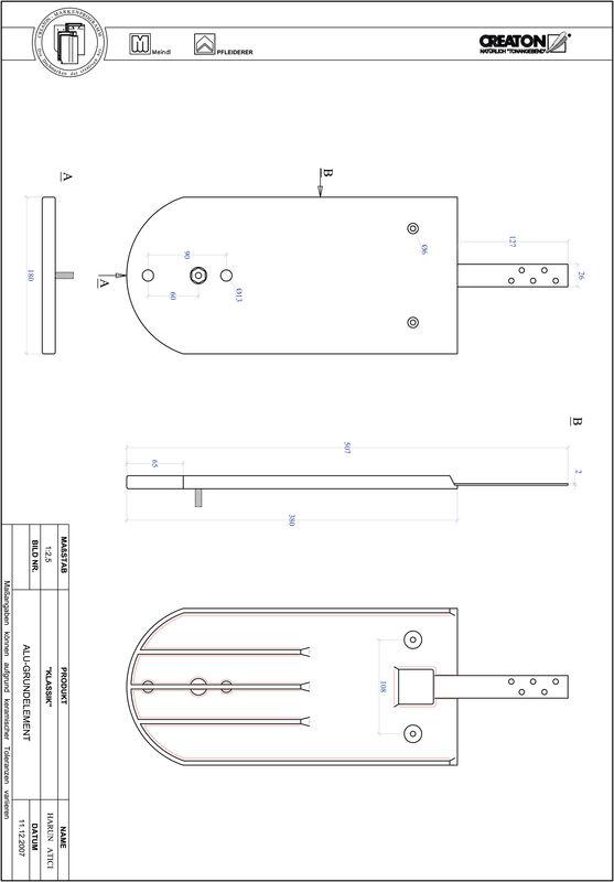 Termék CAD file KAPSTADT kerekvágású RUND-GRUNDALU