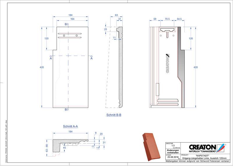 Termék CAD file KAPSTADT szegély bal OGL-halb-120