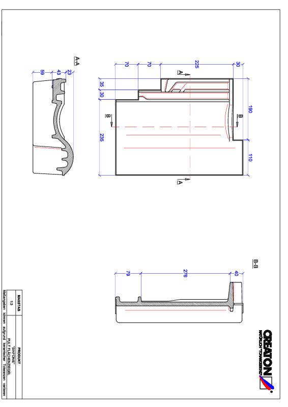 Termék CAD file SINFONIE félnyeregtető-cserép alap PULT