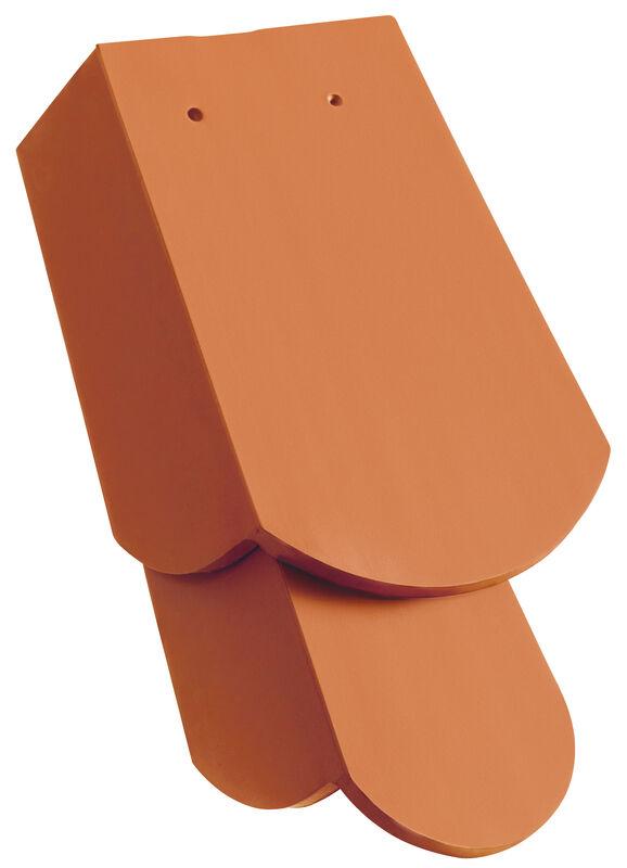 KLASSIK hódfarkú szegélycserép 5/4, jobb, magas oldallappal, kb. 11 cm