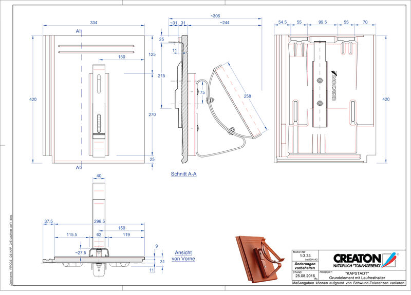 Termék CAD file KAPSTADT alapelem Laufrost