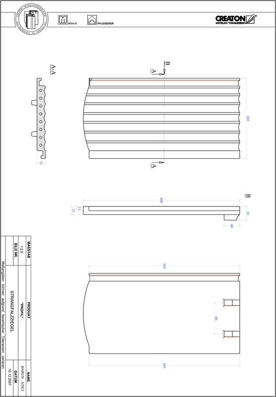 Termék CAD file PROFIL szegmensvágású STRANGFALZ-GEWELLT-1-1